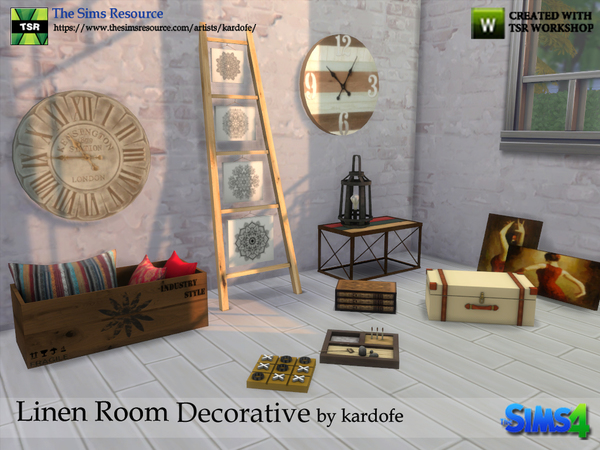 Linen Room Decorative by kardofe at TSR image 1294 Sims 4 Updates