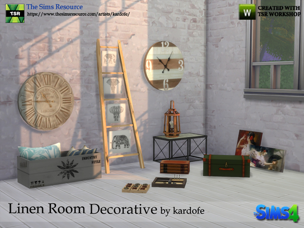 Linen Room Decorative by kardofe at TSR image 1304 Sims 4 Updates
