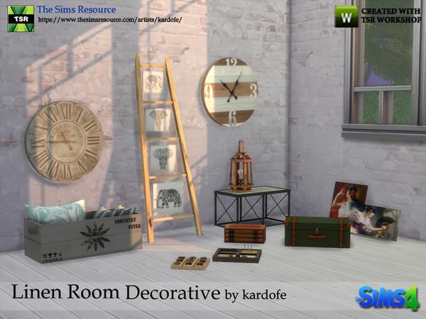 Sims 4 Linen Room Decorative by kardofe at TSR