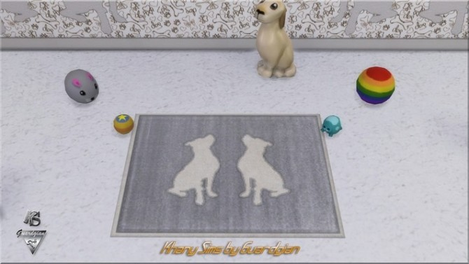 Sims 4 Dog set with walls and rugs by Guardgian at Khany Sims