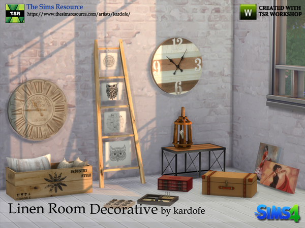 Linen Room Decorative by kardofe at TSR image 1319 Sims 4 Updates