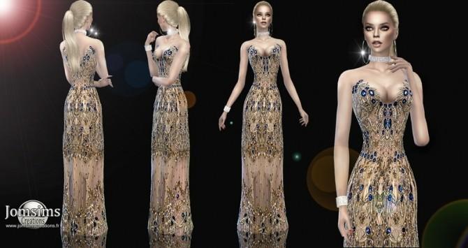 Sims 4 Sadivine Dress at Jomsims Creations