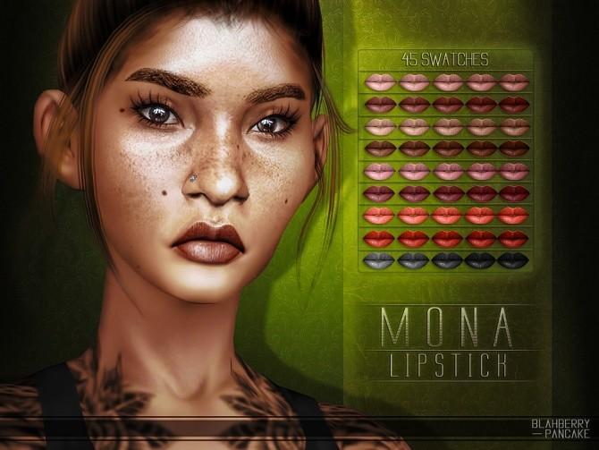 Sims 4 Mona lipstick at Blahberry Pancake