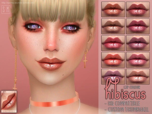 Hibiscus Lip Colour by Screaming Mustard at TSR image 1324 Sims 4 Updates