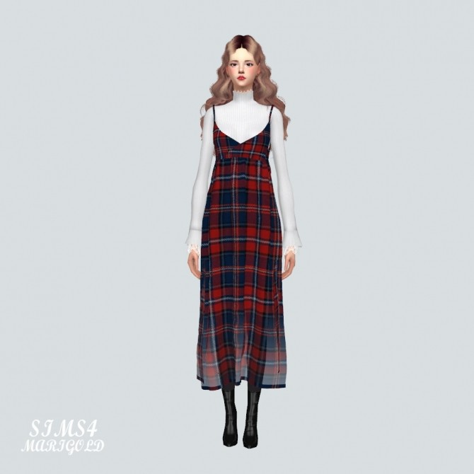 Sims 4 Long Bustier D With Turtleneck at Marigold