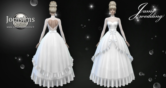 Jami Wedding Dress At Jomsims Creations 187 Sims 4 Updates