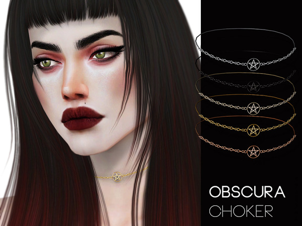 Obscura Choker by Pralinesims at TSR image 1344 Sims 4 Updates