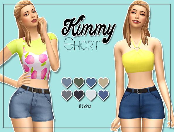 Sims 4 Kimmy short at Kass