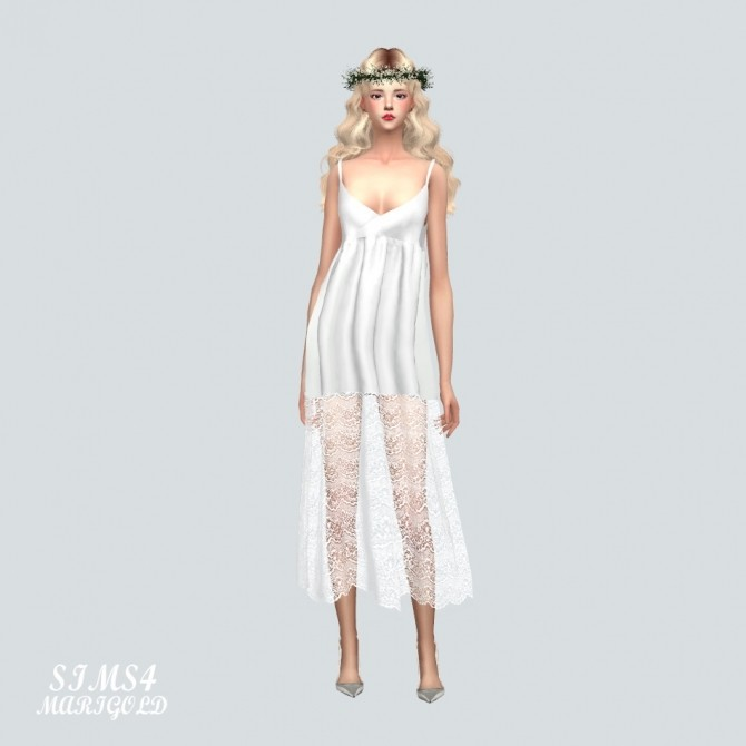 Long Lace Bustier D dress at Marigold image 1356 670x670 Sims 4 Updates