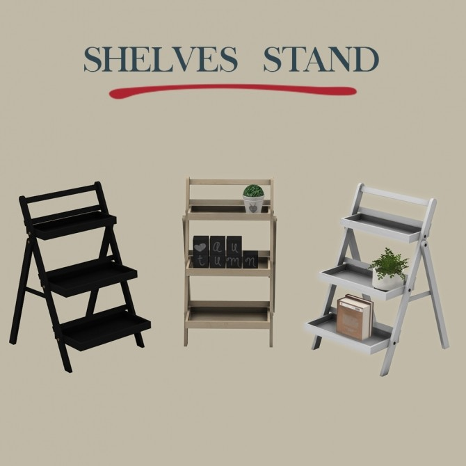 Sims 4 Shelf Stand at Leo Sims