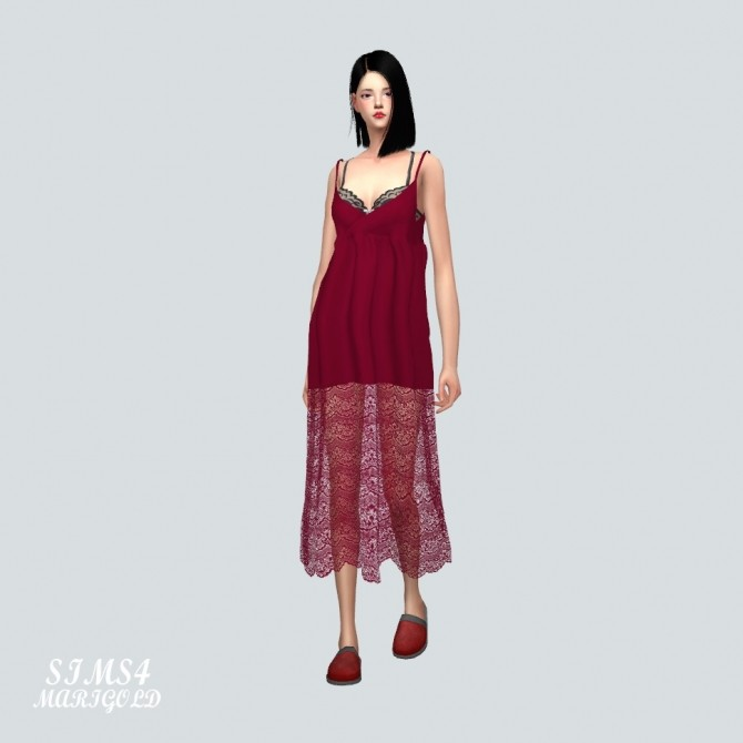 Long Lace Bustier D dress at Marigold image 1386 670x670 Sims 4 Updates