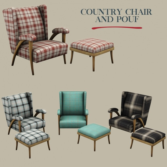 Country Chair and Pouf at Leo Sims image 1392 670x670 Sims 4 Updates