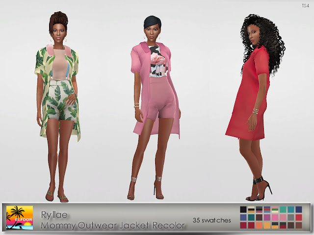 Sims 4 Ryllae Mommy Outwear Recolor at Elfdor Sims