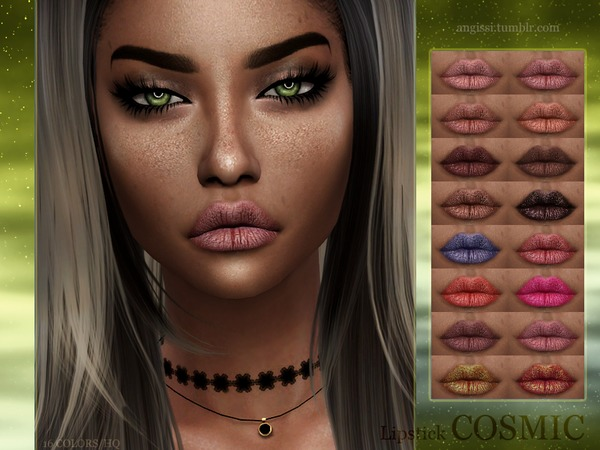 Cosmic Lipstick By Angissi At Tsr 187 Sims 4 Updates