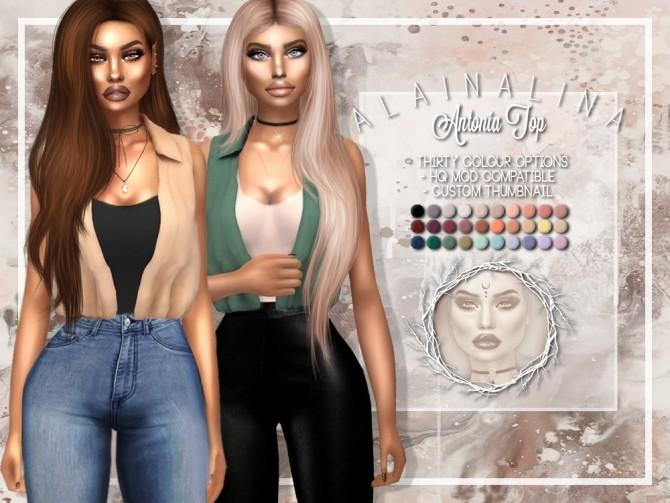 Sims 4 Antonia Top at AlainaLina