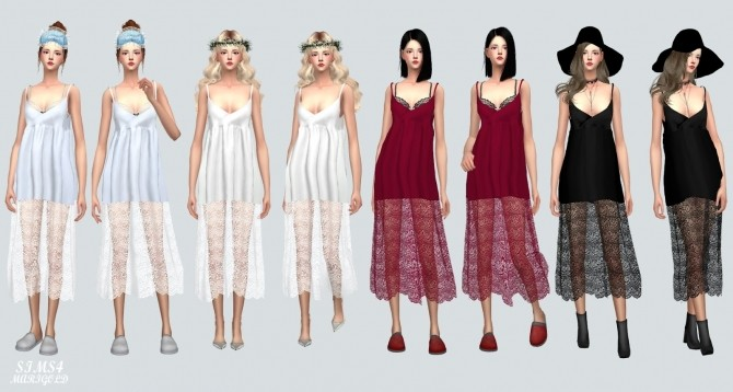Long Lace Bustier D dress at Marigold image 1406 670x358 Sims 4 Updates