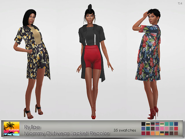 Ryllae Mommy Outwear Recolor at Elfdor Sims image 1408 Sims 4 Updates