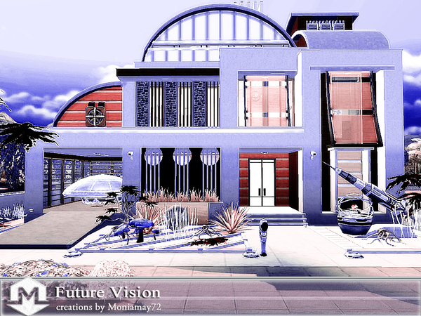 Sims 4 Future Vision family home by Moniamay72 at TSR