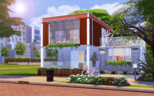 Sims 4 Container Girl Home at Lily Sims