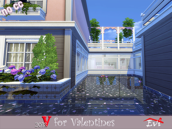 Sims 4 V for Valentines 2018 house by Evi at TSR