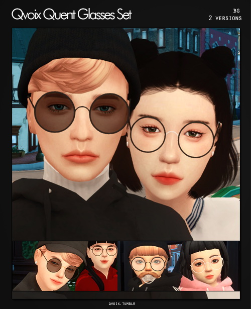 Quent Glasses Set at qvoix – escaping reality image 1431 Sims 4 Updates