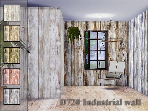 Sims 4 D720 Industrial wall by Danuta720 at TSR