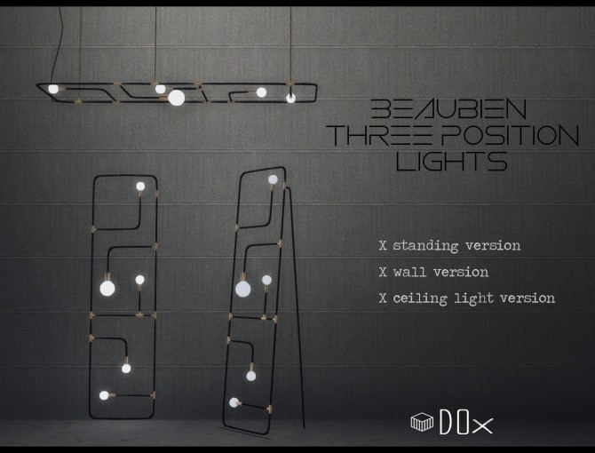 Three Positions Lights at DOX image 1443 670x510 Sims 4 Updates