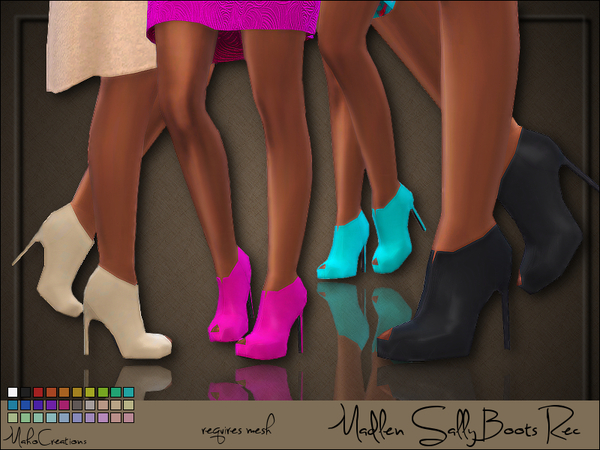 Sims 4 Madlen Sally Boots Recolor by MahoCreations at TSR