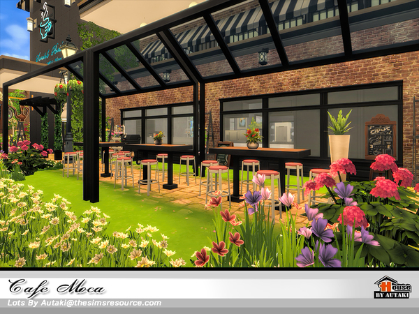 Sims 4 Cafe Moca by autaki at TSR
