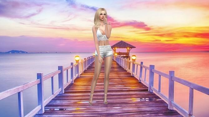 Sims 4 Sunset CAS Background at CatySix