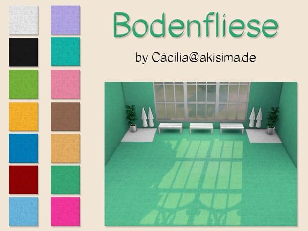 Sims 4 Floor tiles by Cäcilia at Akisima