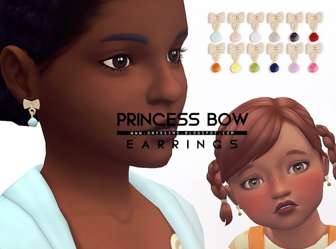 Sims 4 Princess Bow Earrings at Onyx Sims