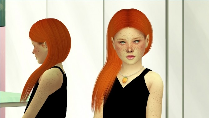 Sims 4 ADE MILA HAIR KIDS AND TODDLER VERSION at REDHEADSIMS
