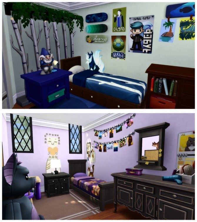 Sims 4 Storybook Cottage + Planter + Pet Flower Bed + Cactus Scratching Post at Pickypikachu