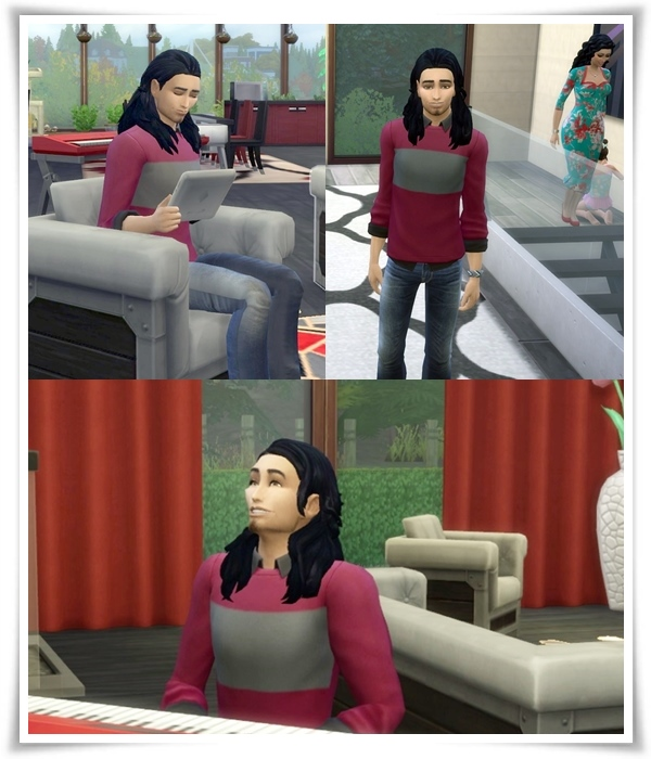 Slick Back Long Hair male at Birksches Sims Blog image 1505 Sims 4 Updates