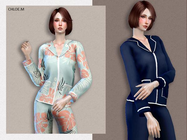 Sims 4 Pajama F by ChloeMMM at TSR