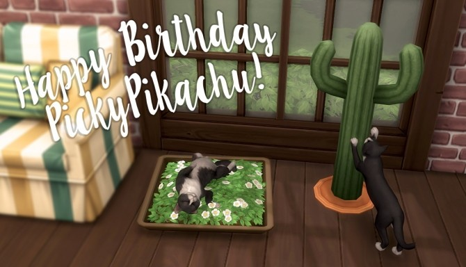 Storybook Cottage + Planter + Pet Flower Bed + Cactus Scratching Post at Pickypikachu image 1521 670x384 Sims 4 Updates