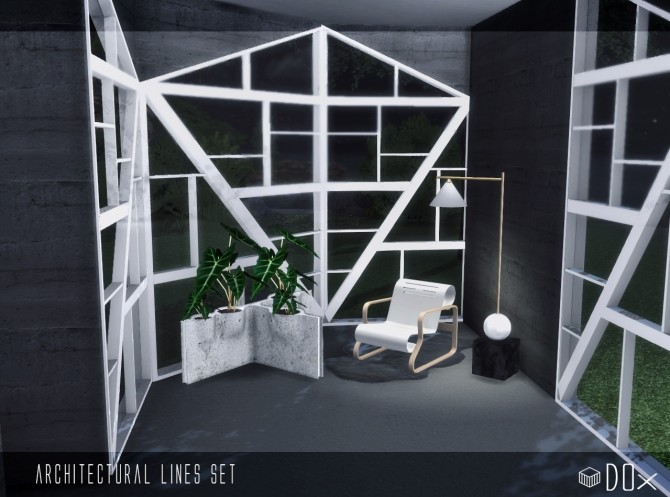 Architectural Lines Set (P) at DOX image 1523 670x497 Sims 4 Updates