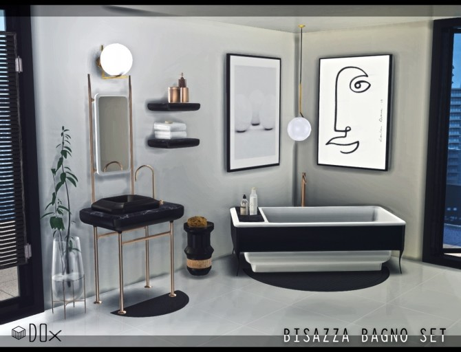 Sims 4 Bathroom Collection (P) at DOX