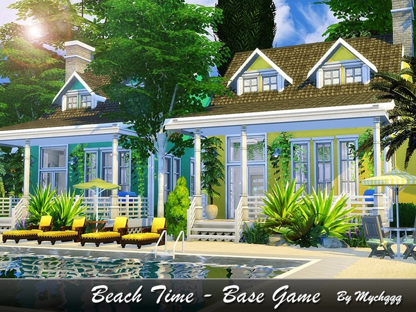 Beach Time house by MychQQQ at TSR image 1540 Sims 4 Updates