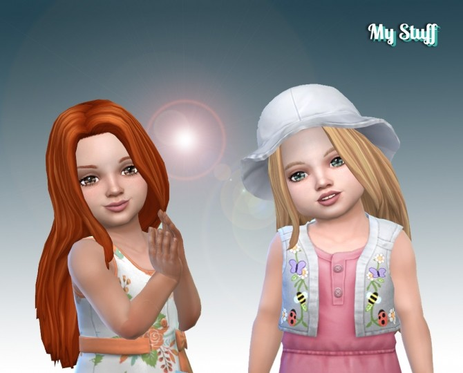Sims 4 Gorgeous Hair for Toddlers at My Stuff