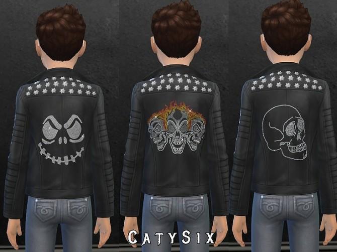 Sims 4 Rocker Jacket V1 Kids Version at CatySix