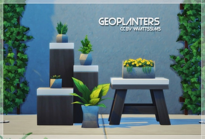 Sims 4 GEOPLANTERS at Wyatts Sims