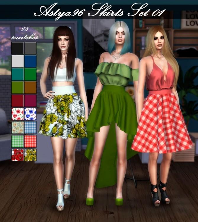 Sims 4 Skirts Set 01 at Astya96