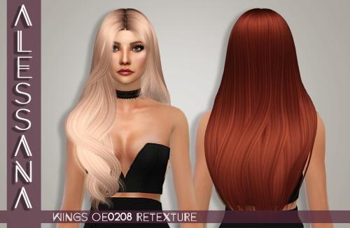 Sims 4 Wings OE0208 Hair Retexture at Alessana Sims
