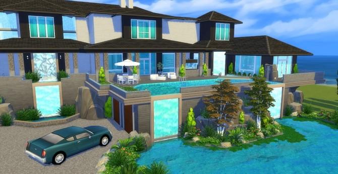Waterfall Mansion by Waterwoman at Akisima image 1598 670x346 Sims 4 Updates