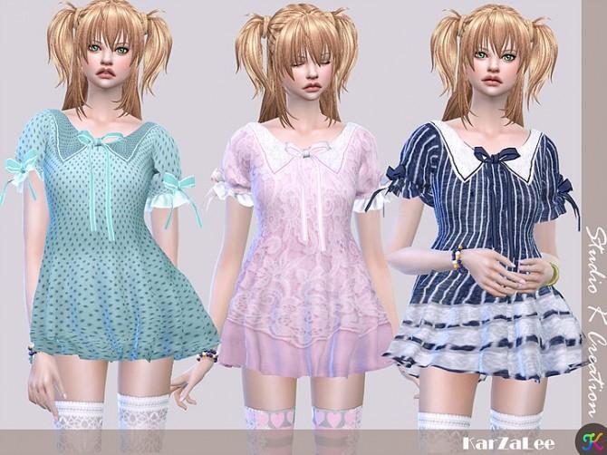 Sims 4 Type J top dress at Studio K Creation