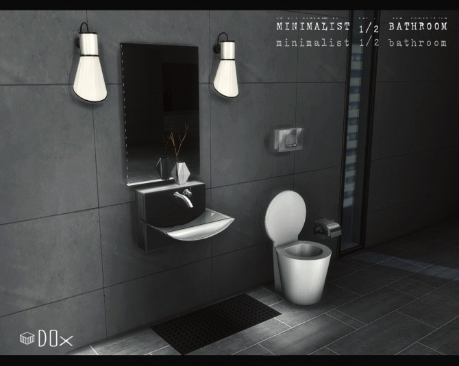 Sims 4 Minimalist 1/2 Bathroom Set (P) at DOX