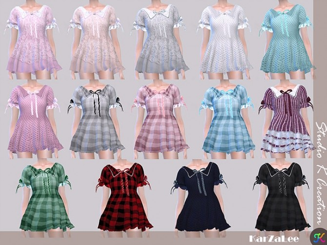 Type J top dress at Studio K Creation image 1609 670x502 Sims 4 Updates