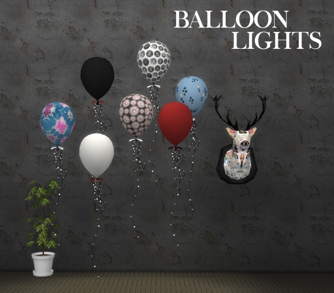 Sims 4 Balloon Lights at Leo Sims